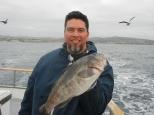 Manny's jackpot sand bass on the Clemente (Dana Wharf)