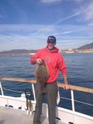 6 lb halibut Sunday on the Sum Fun (photo Dana Wharf)