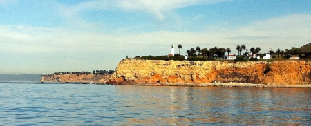 Pt. Vicente lighthouse as we headed north