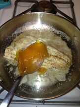Add mango jam and red pepper flakes